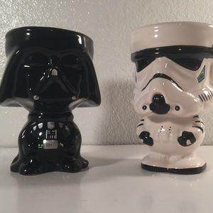 Star Wars & Darth Vader Storm Trooper mug goblets
